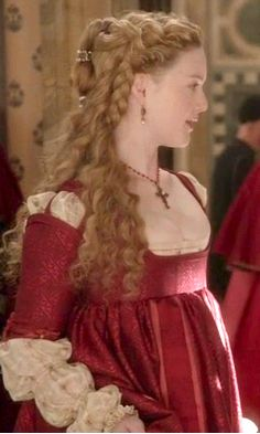The Borgias  -- I've probably pinned this a dozen times already, but I love it!!   I'm thinking this style would make a beautiful wedding gown for a Renaissance wedding.  What do you think, @Carly Gafnea ?