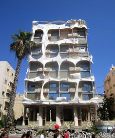 Tel Aviv, Israel A beachfront apartment building. I'm guessing it was inspired by Salvador Dali?