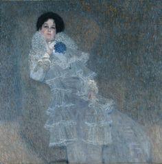 Gustav Klimt, Bildnis Marie Henneberg, 1901/02, Öl auf Leinwand, 140 x140 cm, Stiftung Moritzburg Halle (Saale) - Kunstmuseum des Landes Sachsen-Anhalt