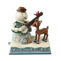 Enesco Rudolph The Red Nosed Reindeer Rudolph Standing with Sam The Snowman Wind Up Musical Figurine Peanuts Christmas, Christmas Clay, Christmas Books, Christmas Images, Christmas Cartoons, Christmas Stuff, White Christmas, Christmas Trees, Christmas Ornament
