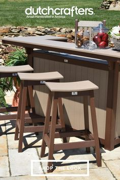 Berlin Gardens is the premier outdoor poly furniture vendor due to their high level of attention to detail in their products, ensuring you get exactly what you ordered at a reasonable price. Order a set to seat around your grill area for a relaxing and laidback way to dine. The Berlin Gardens Poly Bar Stools work great to accommodate an outdoor bar, patio, and beyond. The Berlin Gardens Poly Outdoor Island Bar is the perfect complementary piece to use along with these bar stools. Saddle Bar Stools, Outdoor Island, Grill Area, Island Bar, Outdoor Dining Furniture, Outdoor Entertaining, High Level, Amish, Outdoor Gardens