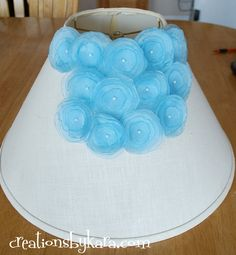 diy home decor dollar store | diy project-flower lampshade — Creations by Kara