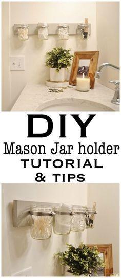 Revamped DIY Mason Jar Hold tutorial from craftsmandrive.com