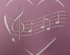 Swirly Heart Stencil