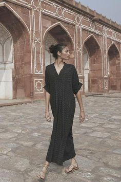 Zermatt long maxi caftan dress by MIRTH