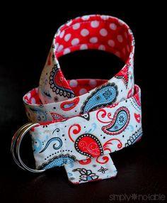 Modern Reversible Fabric Belt Tutorial