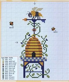 49 ideas for embroidery bee hive cross stitch Butterfly Cross Stitch, Cross Stitch Love, Cross Stitch Needles, Cross Stitch Animals, Cross Stitch Charts, Cross Stitch Designs, Cross Stitch Patterns, Cross Stitching, Cross Stitch Embroidery