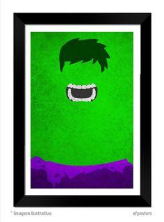 poster hulk - R$55,00 - moldura preta ou branca