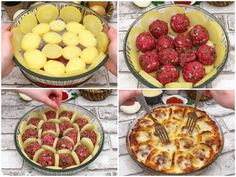 Incredibly delicious meatballs in honeycombs with bechamel sauce Cooking Tips, Cooking Recipes, Tasty Meatballs, Bechamel Sauce, Russian Recipes, French Food, Apple Pie, Appetizer Recipes, Chicken Recipes