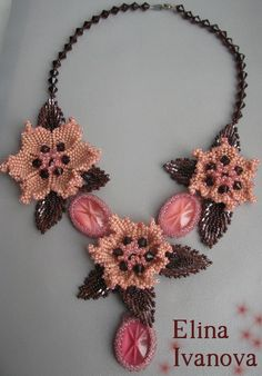 Beautiful beaded jewelry by Elina Ivanova | Beads Magic