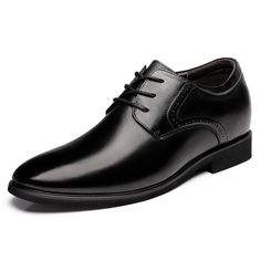 0ed0e7252eb TopoutShoes - Trendy Elevator Business Shoes Add Taller 2.6inch   6.5cm  Black Formal Shoes