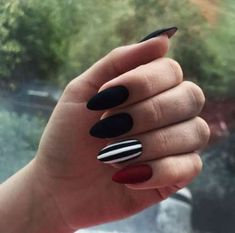 24 Ideas For Nails Cute Dark Manicures 24 Ideas For Nails Cute Dark Manicures The post 24 Ideas For Nails Cute Dark Manicures appeared first on Berable. 24 Ideas For Nails Cute Dark Manicures Stylish Nails, Trendy Nails, Black Nail Designs, Nail Art Designs, Nails Design, Striped Nail Designs, Long Nails, My Nails, Fire Nails