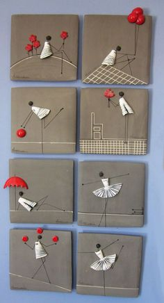 icu ~ S Καρτ Ποστάλ Post Card Clay Wall Art, Ceramic Wall Art, Clay Art, Ceramic Plates, Wire Crafts, Clay Crafts, Diy And Crafts, Arts And Crafts, Pottery Sculpture
