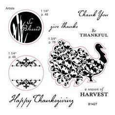 Perfect Fit - Thanksgiving  (B1427) www.scraptasticmemories.com