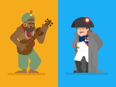 Samudragupta and Napoleon by Gregory Hartman #Design Popular #Dribbble #shots