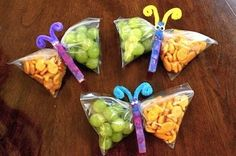 Divide kid-sized portions of your child's favorite foods into individual zipper-seal bags for easy grab-and-go snacks.
