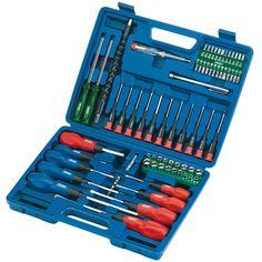 Draper 28748 Screwdriver Socket and Bit Set Pieces) Diy Tools, Hand Tools, Pick Up, Draper Tools, Screwdriver Set, Blow Molding, Tools And Equipment, Tool Set, Blade
