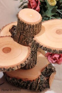 3-Tiered Rustic Tree Stands - Decor for the Holidays