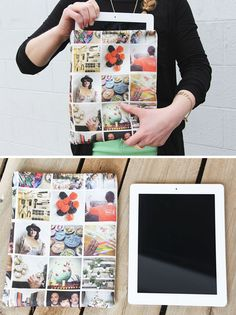 Turn Your Instagram Photos Into an iPad Case - Learn how to design and sew an iPad or e-gadget case with fabric featuring your favorite Instagram photos.
