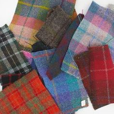 Harris Tweed Fabric in so many fabulous colours and checks