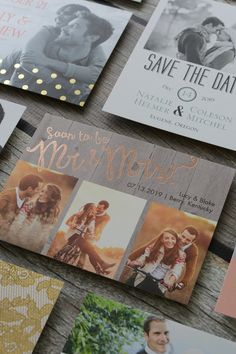 Rustic Rose Gold Save the Date
