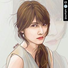#Repost @rafiarif48 with @repostapp  ・・・  Annin lagi :v  #vector_id #vector #vexel #photoshop #drawing #sketch #illustration #bestvector #vectorina #digitalart #artwork #annin #akb48 #iriyamaanna #48_art