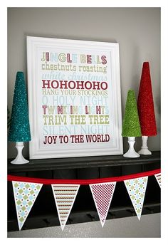 Free Printables for subway art and banner for x mas..a little playful thinking the playroom