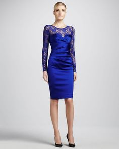 MOB - Lace Sweetheart Neck Illusion Dress - Lyst