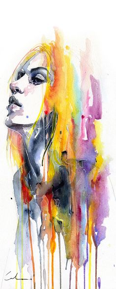 'Sunshower' by Agnes Cecile - Fine Art Prints available at Eyes On Walls. http://www.eyesonwalls.com/collections/agnes-cecile?sort_by=created-descending&utm_source=pinterest&utm_medium=ads&utm_content=Sunshower&utm_campaign=Agnes%20Cecile