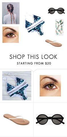 """""""bikini"""" by jayda-bug ❤ liked on Polyvore featuring LC Lauren Conrad, Yves Saint Laurent and Sonix"""