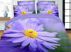 Elegancka fioletowa pościel z mikrowłókna na łóżko do sypialni