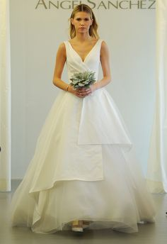 c1e08886b40 Angel Sanchez Wedding Dresses 2015 Showcase Cut Outs and Architectural  Necklines for Fall