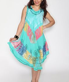 342f0ae328 Another great find on  zulily! Mint Tie-Dye Scoop Neck Shift Dress by