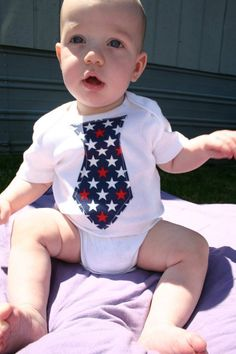 4th of July Onesie from Crown My Baby on my grandson Tanner