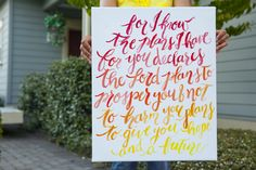 Graduation gift idea: Painted Quote on Canvas - Oh So Very Pretty | A few of our favourite little things