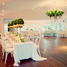 Indoor Reception // Joyeuse Photography //  Flowers: Wicked Willow // http://www.theknot.com/weddings/album/139330