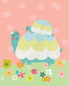 Leading Illustration & Publishing Agency based in London, New York & Marbella. Kids Wallpaper, Mobile Wallpaper, Cute Illustration, Character Illustration, Baby Tortoise, Childrens Wall Art, Baby Art, Diy Laptop, Laptop Case