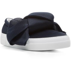 separation shoes 587d2 85d02 Joshua Sanders Oversized Bow Slip On Sneakers ( 420) ❤ liked on Polyvore  featuring shoes