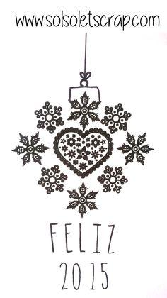 Feliz 2015 estampado con una combinación de sellos de silicona. Symbols, Peace, Logos, Art, Happy 2015, Stamps, The Creation, Art Background, Logo