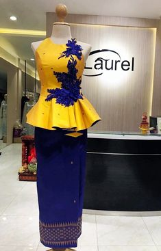Ankara to sew African Print Dresses, African Fashion Dresses, Fashion Outfits, Thai Fashion, Tribal Fashion, African Attire, African Wear, Trendy Ankara Styles, Fancy Tops