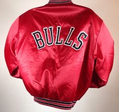 Vintage Chicago Bulls Satin Jacket Swingster NBA Basketball Stitched XL New | eBay