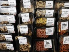 vegetarian butcher... chiller cabinets are stuffed with chicken pieces, meatballs, mince and smoked bacon - with a twist