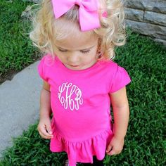 This sweet little ruffle tee can be found on our #etsy shop or by going to simply-embroidered.com ♡