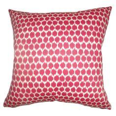 Daile Spots Down Fill Fuchsia Throw Pillow