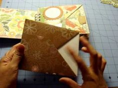 """Pocket Page Mini Album Tutorial: This is a tutorial on how I created pocket pages for a mini album. This book measures 5""""x6"""" and each page will hold 3 tags."""