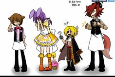 I don't understand why Freddy and Foxy are so embarrassed, Bonnie should be the only one. (And OMFG Chica is SO CUTE!!!) Fainas And Freddy, Pole Bear, Freddy Fazbear, Fnaf Freddy, Marionette, Five Nights At Freddy's, Fnaf Drawings, Anime Fnaf, Wattpad