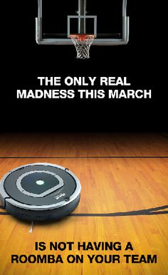 Vacuuming when Roomba can do it for you? Madness. #basketball #tech #fact