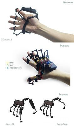 Exoskeleton Glove for feeling Virtual Reality Objects