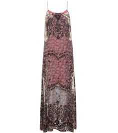 Etro - Devoré silk-blend maxi dress - Etro's striking dress showcases the brand's impeccable attention to detail. Crafted from a lightweight silk-blend fabric, the piece is detailed with velvet devoré, while the semi-sheer finish shows glimpses of the metallic lace slip dress beneath. Echo the runway and team yours with a dynamic shearling-trimmed coat. seen @ www.mytheresa.com