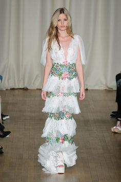 Marchesa S/S '15 lace and florals